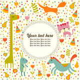 Colorful Baby shower background. Happy birthday greeting card or invitation. Stock Images