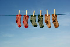 Colorful baby socks Stock Images