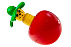 Colorful baby toy rattle bug. Stock Photo