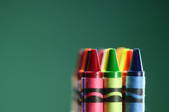 Colorful Back to School Crayons Royalty Free Stock Images