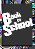 Colorful Back to school illustration Royalty Free Stock Photography