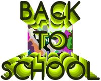 Colorful Back to school illustration Royalty Free Stock Photos