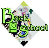 Colorful Back to school illustration Royalty Free Stock Images