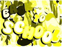 Colorful Back to school illustration Royalty Free Stock Image