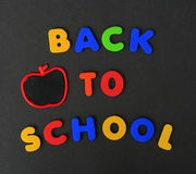 Colorful Back To School letters Royalty Free Stock Photos