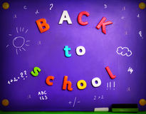 Colorful Back To School letters Stock Photo