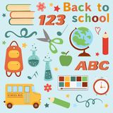 Colorful back to school set Stock Photo