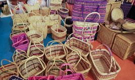 Rattan backet or bucket Royalty Free Stock Photography