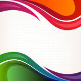Colorful background. Abstract background with waves and colorful shapes Stock Photo