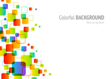 Colorful background. Background with colorful squares for web or print usage Royalty Free Stock Image