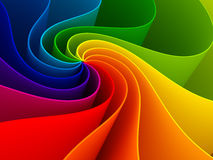 Colorful Abstract Infinite Spiral Of Bright Colors