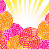 Colorful background. Colorful abstract background with rays Stock Images