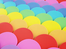Colorful background. Colorful 3d round shapes background Stock Photo