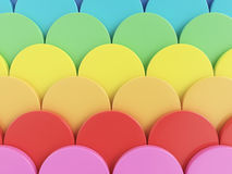 Colorful background. Colorful 3d round shapes background Stock Photography