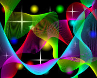 Colorful background. Abstract background consisting of a set of curves for the designers for various necessities Royalty Free Stock Photos