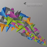 Colorful background with abstract birds. Vector illustration Stock Photography