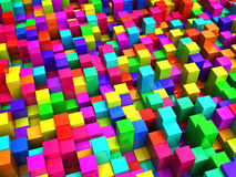 Colorful background. Abstract 3d illustration of colorful cubes background stock illustration