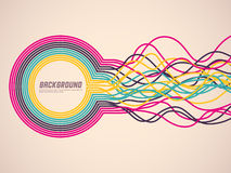 Colorful background with abstract ribbons Stock Images