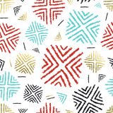 Colorful background with abstract tribal art Royalty Free Stock Photo