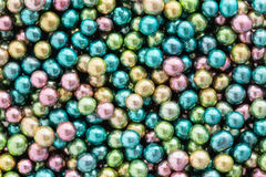 Colorful background of assorted rainbow Choco coated  peanut.  Royalty Free Stock Photos