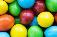 Colorful background of assorted rainbow Choco coated  peanut, to. P view Royalty Free Stock Image
