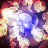 Colorful background blurred lights circle Stock Images