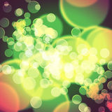 Colorful background blurred lights circle Royalty Free Stock Photos