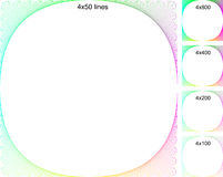 Colorful background borders. A background of colorful borders vector illustration