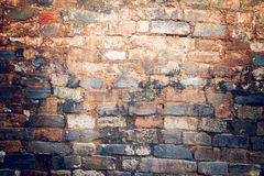 Colorful background of the brick wall. Royalty Free Stock Photo