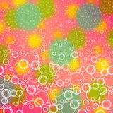 Colorful background with bubbles. Stock Photography