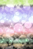 Colorful background with bubbles. In the form of stars, planets and moons Royalty Free Stock Image