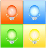Colorful background with bulb Royalty Free Stock Images