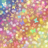 Colorful background with butterflies Stock Photo