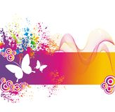 Colorful background with butterfly. Royalty Free Stock Photos