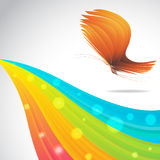 Colorful background with butterfly. Clip-art Royalty Free Illustration