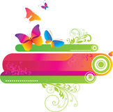 Colorful background with butterfly. Stock Photography