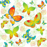 Colorful background with butterfly. Royalty Free Stock Photography