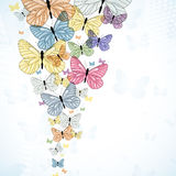 Colorful background with butterfly Royalty Free Stock Photo