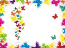 Colorful background with butterfly Royalty Free Stock Image