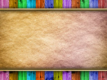 Colorful background - canvas and planks Royalty Free Stock Images