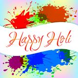 Colorful background with chaotic splashes and blots. Festival of colors Holi. Vector illustration Royalty Free Stock Images