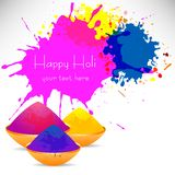 Colorful background with chaotic splashes and blots. Festival of colors Holi. Vector illustration Royalty Free Stock Photos