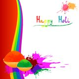 Colorful background with chaotic splashes and blots. Festival of colors Holi Stock Photos