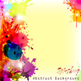 Colorful background with chaotic splashes and blots Royalty Free Stock Photography