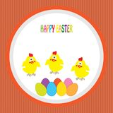 Colorful background with chick and font. Cartoon Royalty Free Stock Image
