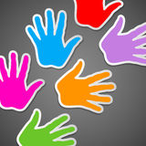 Colorful background of child hand Stock Photography