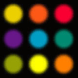 Colorful background of circles royalty free illustration