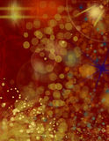 Colorful background with circles and lights Stock Photography