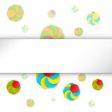 Colorful background template with circles and spirals Stock Images