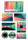 Colorful background collection Royalty Free Stock Photography
